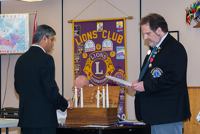 Ajax Lions Club - New Member Induction and Years of Service Chevrons - Oct 10, 2018