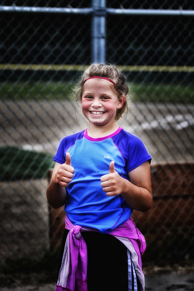 Reese Bouwens with her big smile after the kids race..
