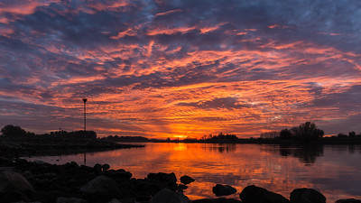 Timelapse zonsondergang Wijhe