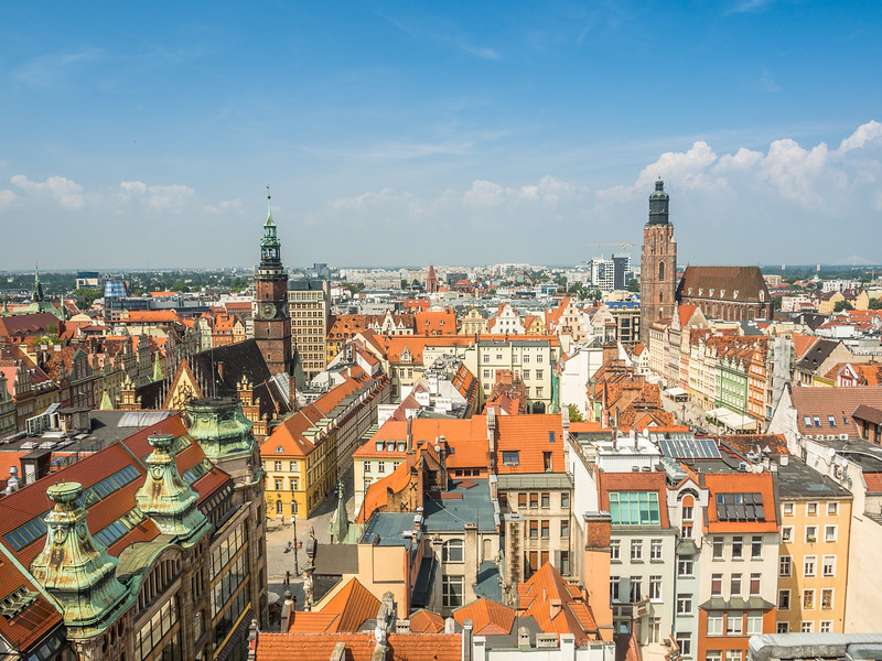 Above the Rooftops of Wrocław, Poland