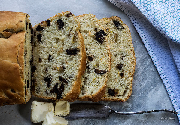 Dried Figs, Raisins and Orange Zest Batter Bread - Catalog #4060