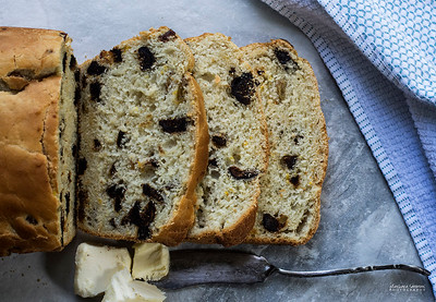 Dried Figs, Raisins and Orange Zest Batter Bread - Catalog #4060