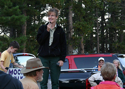 Amy Ballard, a Recreation Forester with the Mystic District of Black Hills National Forest, has been coordinating the Moon Walks for some 14 years.  She said she's often approached by folks when she's out shopping.  Unfortuantely, she can't remember all of the thousands of people who've participated in the walks over the years.