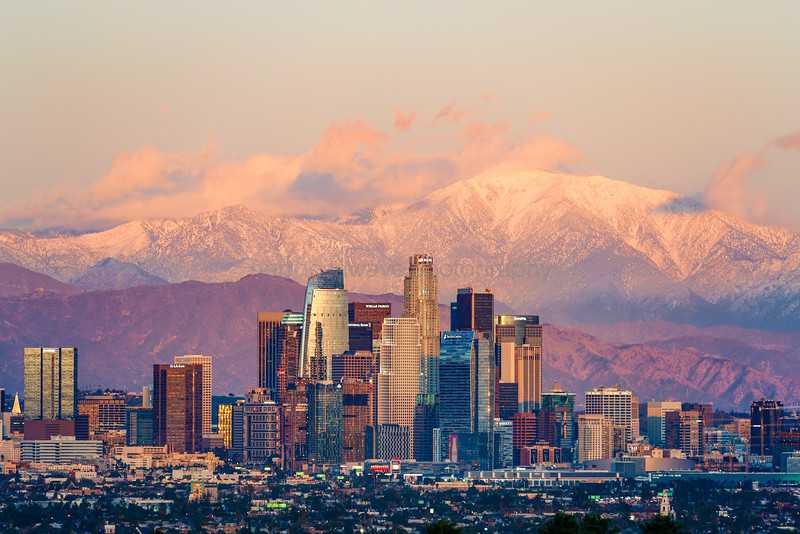 Downtown Los Angeles and Mt. Baldy