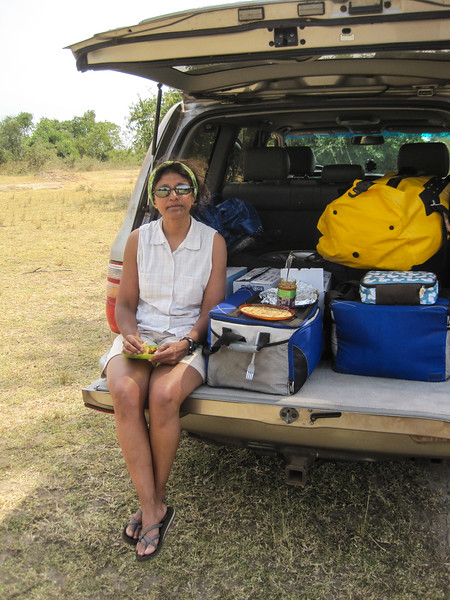 Breaking for lunch at Hippo Pools picnic site