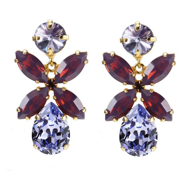 Dione Earrings / Provence Lavender + Cyclamen Opal