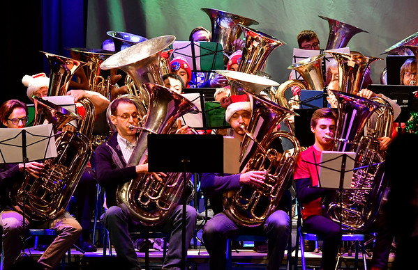 12/15/2017 Mike Orazzi | Staff The 4th Annual Tuba Christmas at Trinity-On-Main in downtown New Britain Saturday.