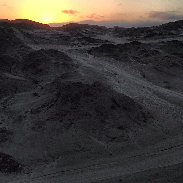Moonscape sunset. Swakop River Canyon, outside of Swakopmund, Namibia.