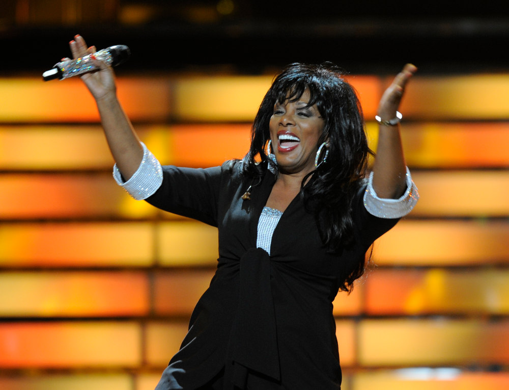 ". In this May 21, 2008 file photo, Donna Summer performs during the finale of ""American Idol\"" at the Nokia Theatre in Los Angeles. Summer, the Queen of Disco who ruled the dance floors with anthems like ìLast Dance,î ìLove to Love You Babyî and ìBad Girl,î has died. Her family announced her death in a statement Thursday, May 17, 2012.  She was 63. Donna Summer ranked as Google\'s tenth most searched trending person of 2012. (AP Photo/Kevork Djansezian, File)"