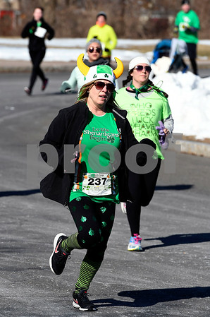3/17/2018 Mike Orazzi | Staff Carole Seagrave during the 16th Annual Shamrock Run and Walk held at the Chippens Hill Middle School Saturday morning.