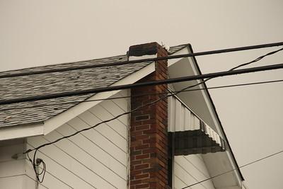 Damage After Lightning Strike Chimney in Lansford (7-23-2014)