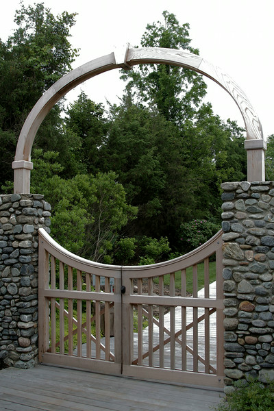 190 - Westport CT - Yorktown Double Gate with Arch