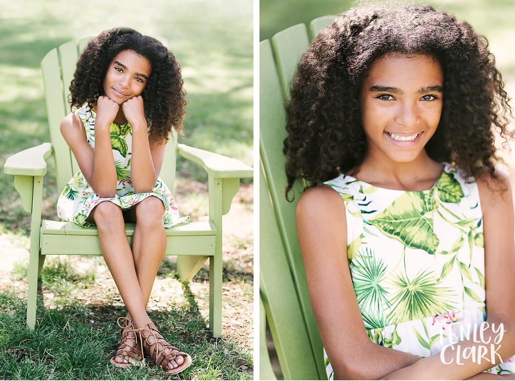 Kids model headshot portfolio session for JE Kids in Downtown San Jose by Tenley Clark Photography.