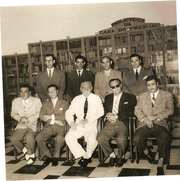 Sentados Marvanejo , Carlos Jorge, Noronha Feio, Matos e Pinho Barros Em pé Fontes ,Augusto  Silva, Pires  e Aragão  Brito