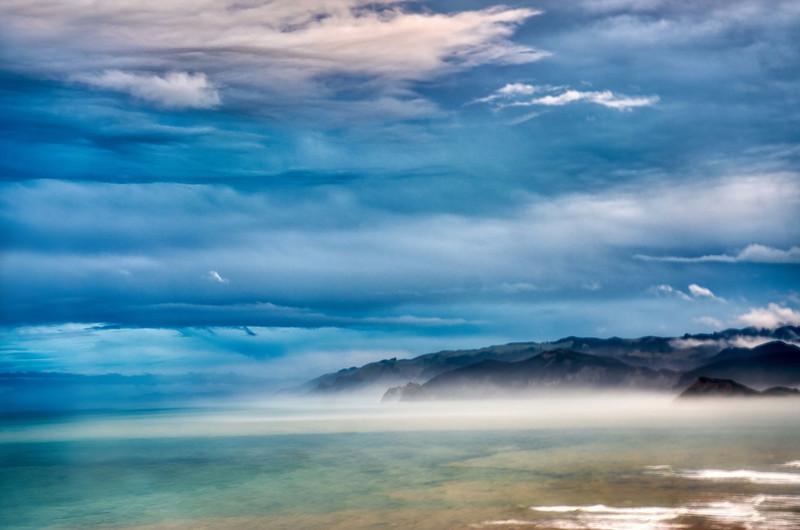 The Blue Colors along the Gisborne Coast