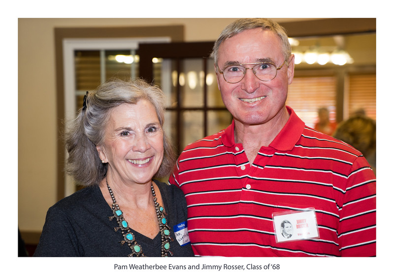 Pam Weatherbee Evans and Jimmy Rosser, Class of '68.jpg