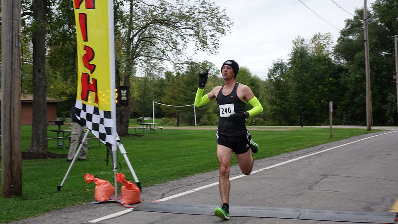 First to cross finish line and a new record