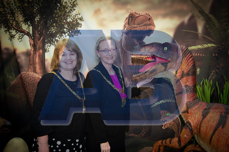 Douglas Mayor meets Dinosaurs in Douglas