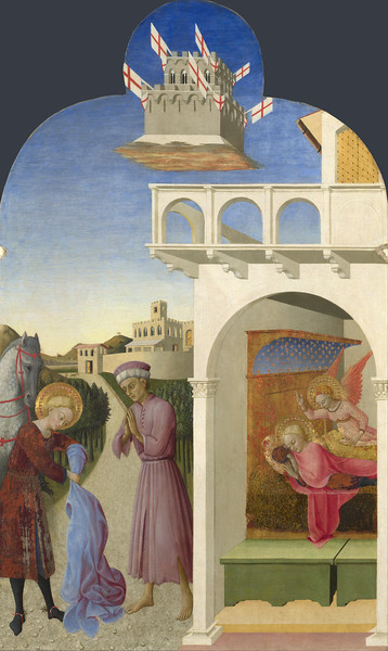 Saint Francis and the Poor Knight, and Francis's Vision