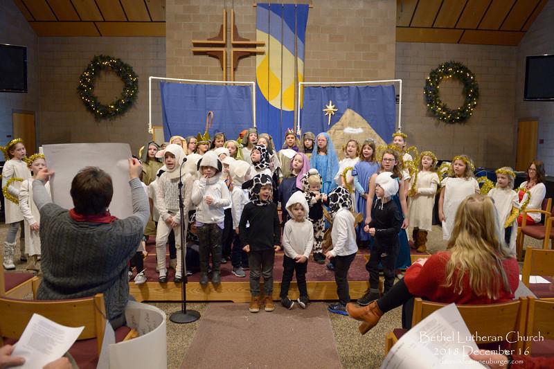 Bethel Children Christmas Story 2018 December 16, Bethel Lutheran Church, Northfield, Minnesota  USA