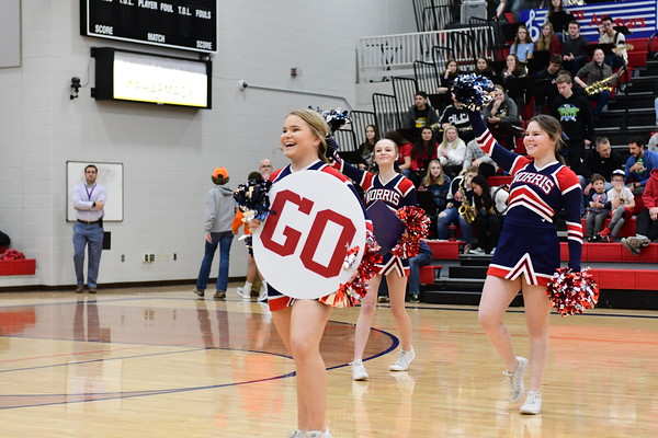 Cheer at Varsity Basketball vs Beatrice