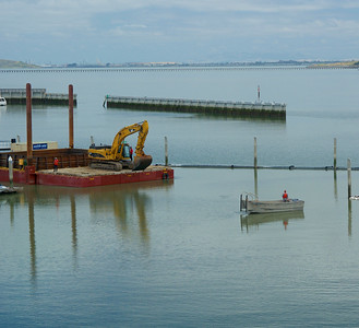 Dredging at Emery Cove Yacht Harbor