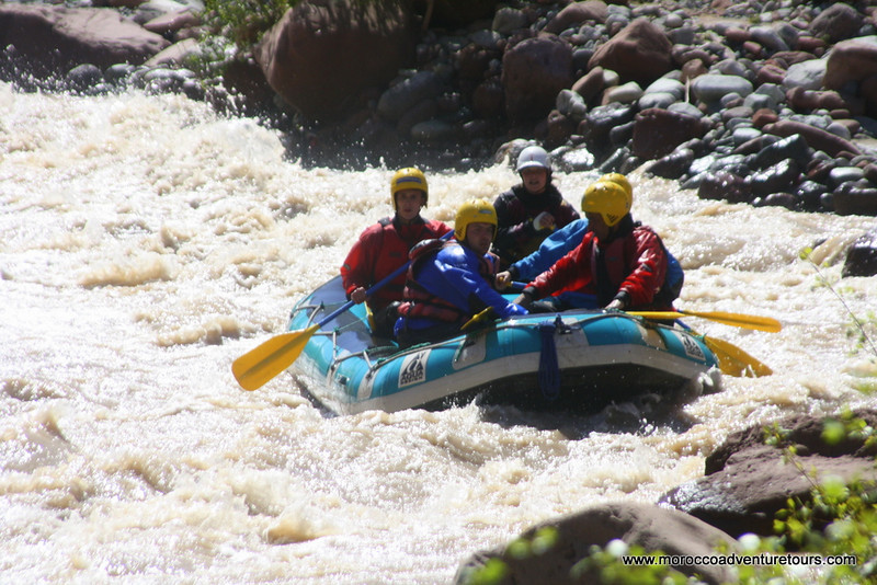 Rafting on the Ourika River in the Ourika Valley near Marrakech, join us at http://moroccoadventuretours.com