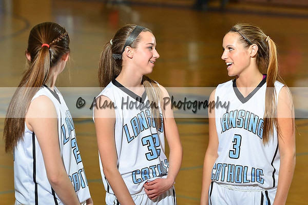 Girls Varsity Basketball - Haslett at Lansing Catholic