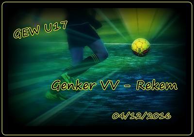 Genker VV - Rekem  GEW U17  04/12/2016