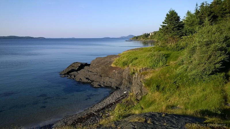 early evening light as seen from the beach in Eastport