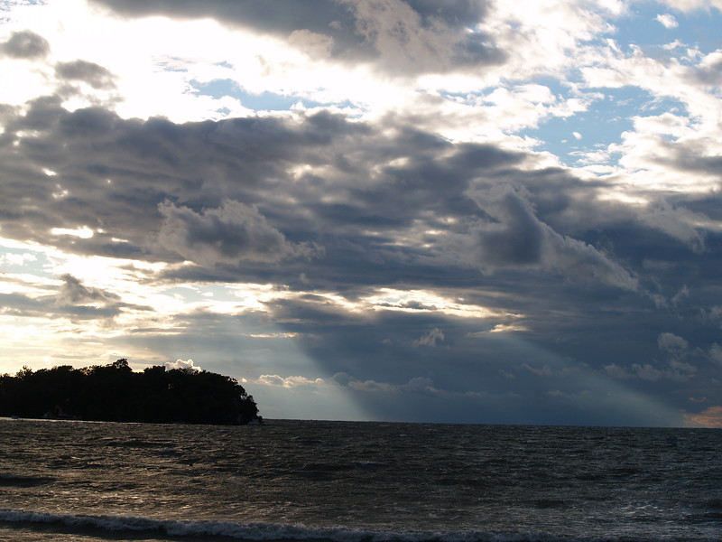sunshine in the morning over South Bass Island, Lake Erie