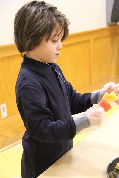 Kindergarten: Fruit Kabobs