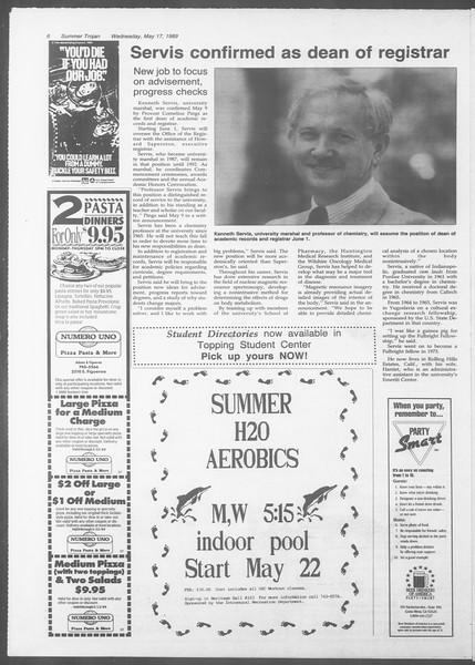 Summer Trojan, Vol. 109, No. 1, May 17, 1989