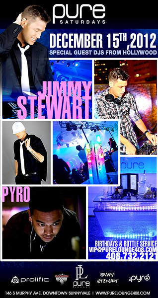 12/15 [DJ Jimmy Stewart Jr@Pure Lounge]