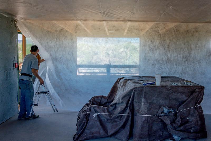 Attaching Insulation Netting #3