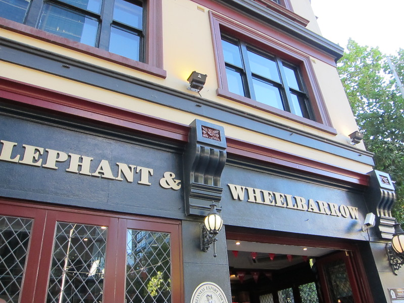 Elephant and wheelbarrow bar