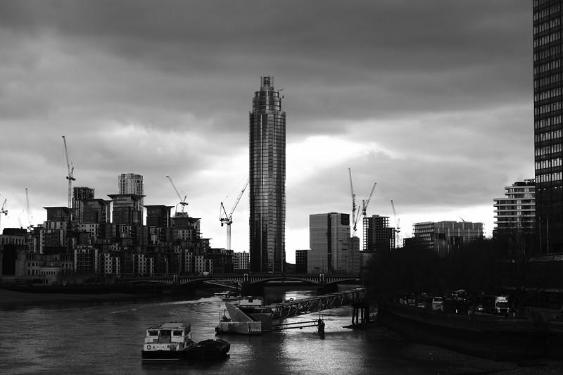 Vauxhall residential development, Thames River, London, United Kingdom