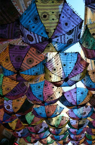 Umbrella overhead shade.