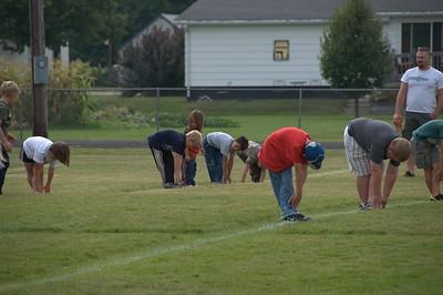 2009-09-13 AJ First Flag Football Practice