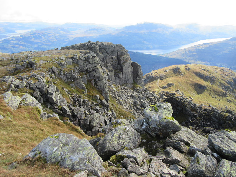 The impressive crags on Ben Narnain