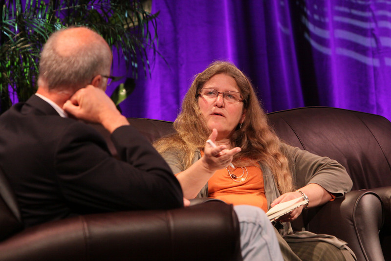 """""""Looking Further"""": Brenda Cooper, Science Fiction Author and CIO, City of Kirkland, Washington; and host Glen Hiemstra, Founder and Owner, Futurist.com"""