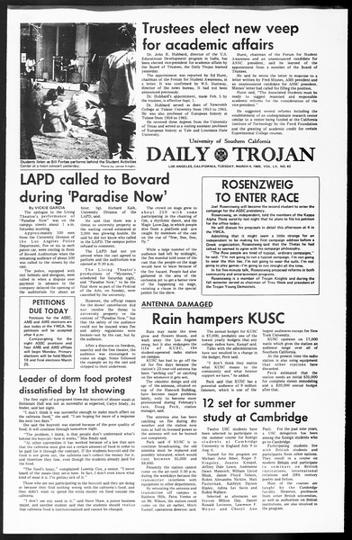 Daily Trojan, Vol. 60, No. 82, March 04, 1969