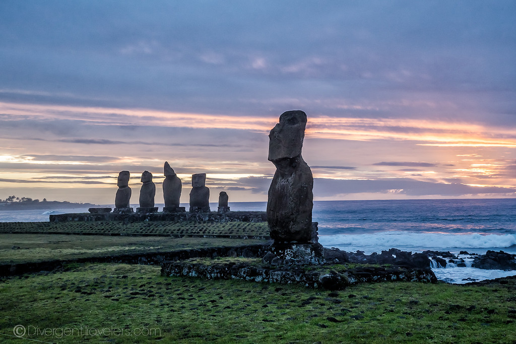 Rapa Nui National Park Easter Island - Tahai - Lina Stock