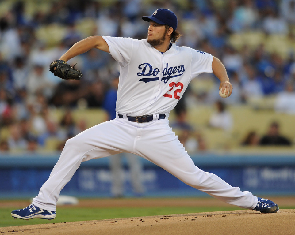 . <b>Clayton Kershaw #22 | SP | Throws: L, Bats: L <br />GP: 33     GS: 33     QS: 27     W: 16     L: 9  </b> <b>SV: 0     HLD: 0     IP: 236.0    H: 164     ER: 48  </b> <b>HR: 11     BB: 52     S0: 232     WHIP: 0.92     ERA: 1.83</b> <br />(John McCoy/LA Daily News)