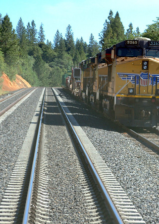 Colfax to State Line on track