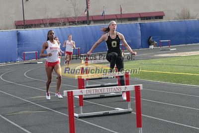 400 Meters Hurdles - 2013 Oakland vs Detroit Track Meet