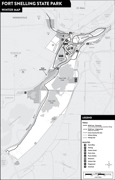 Fort Snelling State Park (Winter Map)