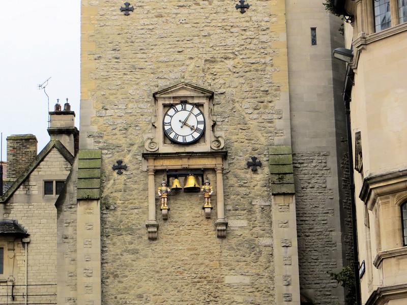"""Carfax Tower, all that remains of a 13th-century church.  If you're physically fit you can climb up in the tower and get a good aerial view of Oxford.  The clock has what are called """"quarter boys"""" that strike the bell every 15 minutes.  Or so I am told--I didn't hear them myself."""