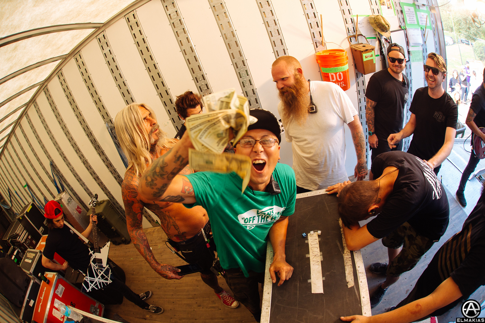 Unicorn Stage crew (NOT SURE) at Warped Tour 2015 by Adam Elmakias