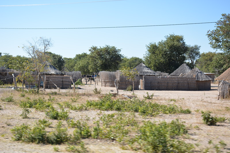 Dwellings, Between Tsodilo Hills and Shakawe, Botswana